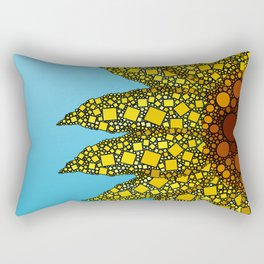Sunflower in Abstract Form - Flower field - Autumn and summer collide - 57 Montgomery Ave Rectangular Pillow