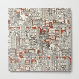 Hong Kong toile de jouy Metal Print