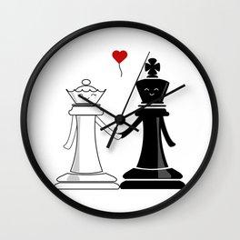 Chess love #3 Wall Clock