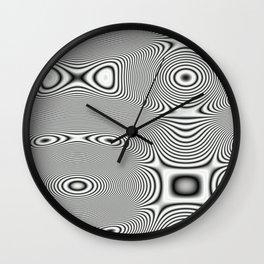 Bonitum B&W ripple Wall Clock