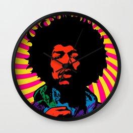 Psychedelic Jimi Wall Clock