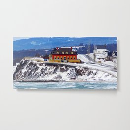 Le Chateau and the Sea Metal Print