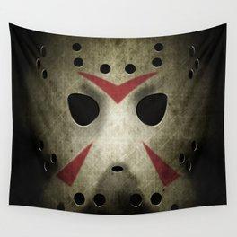 Slasher Hockey Mask Wall Tapestry