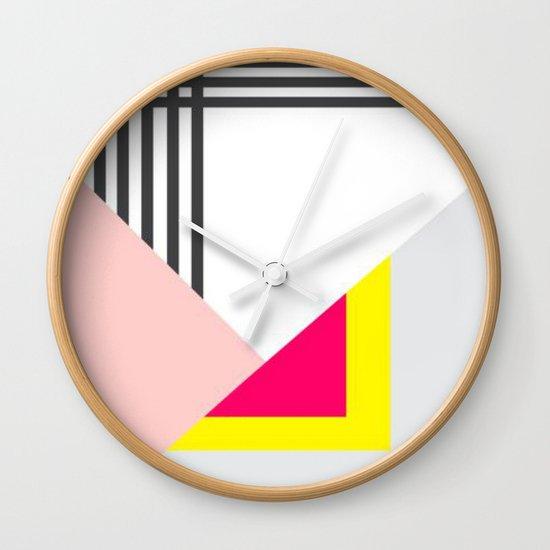 Memphis Milano Wall Clock by Xchange Art Studio | Society6