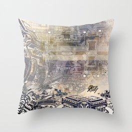 BK QUANTUM ABSTRAKT Throw Pillow