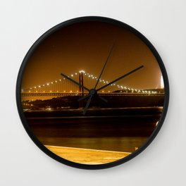Lisbon bridge light Wall Clock