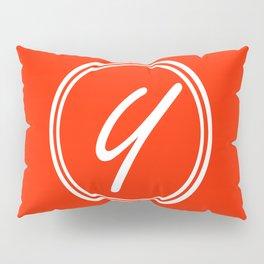 Monogram - Letter Y on Scarlet Red Background Pillow Sham