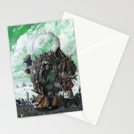 the chameleon Stationery Cards