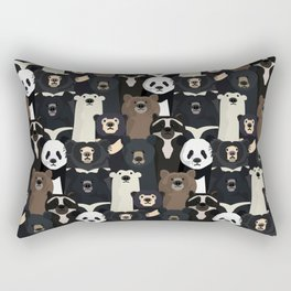 Bears of the world pattern Rectangular Pillow
