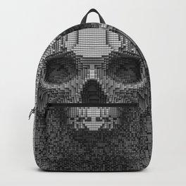 Pixel Skull B&W Backpack
