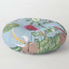 Vegetable Garden Floor Pillow