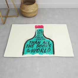 Louis Pasteur quote on wine Philosophy and books, inspirational saying, motivational sentence Rug