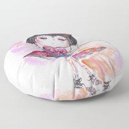 Sweet Little Dancing Girl Floor Pillow
