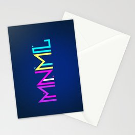 Minimal Type (Colorful Edm) Typography - Design Stationery Cards
