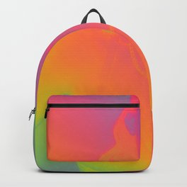 """""""Piss Off"""" girl with lollipop rainbow art print Backpack"""