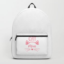 Cat Mom Heart Nose Ears and Whiskers pw Backpack
