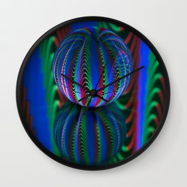 Segments in the crystal ball Wall Clock