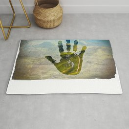 Hand Print Rug