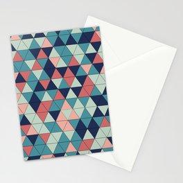 mosaique de triangle Stationery Cards