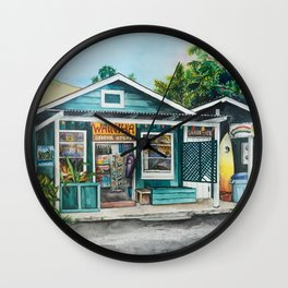 Hawaiian General Store Wall Clock
