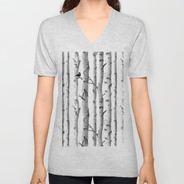 Trees Trunk Design Unisex V-Neck
