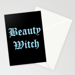 Beauty witch blue Stationery Cards