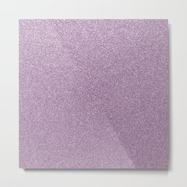 Modern abstract lavender lilac girly glitter Metal Print