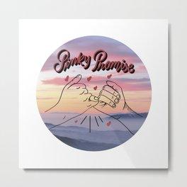 Pinky promise, pinky swear, i swear, printable wall art, romantic couple, lovers art print, love art Metal Print