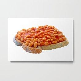 Beans on Toast Metal Print