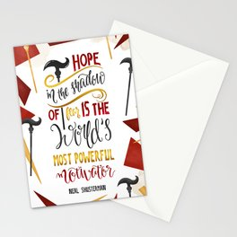 HOPE IN THE SHADOW OF FEAR Stationery Cards