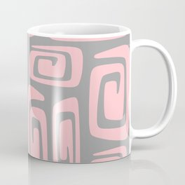 Mid Century Modern Cosmic Abstract 516 Pink and Gray Coffee Mug