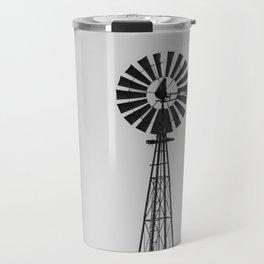 Windmill #blackandwhite Travel Mug