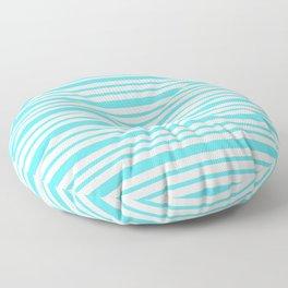 Turquoise Stripe Retro Inspired - Nadia Bonello Floor Pillow