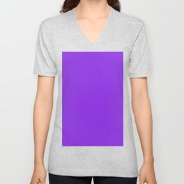 color blue violet Unisex V-Neck