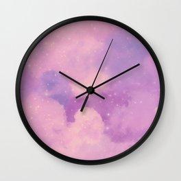 Pastel Cloulds Sky Seamless Nebula 270 Wall Clock