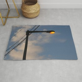 Street Lamp Post Evening Sky Rug