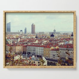 Lyon cityscape, view from Croix-Rousse - Fine Arts Travel Photography Serving Tray