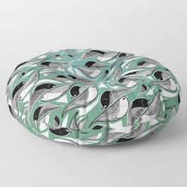 Bird Mosaic Floor Pillow