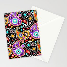 Boho Cowboy Colorful Bandana Paisley Stationery Cards