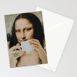 mona lisa x her espresso Stationery Cards