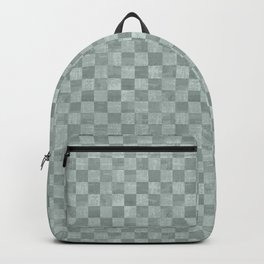 Checkered Steel Gray Grunge Pattern Backpack
