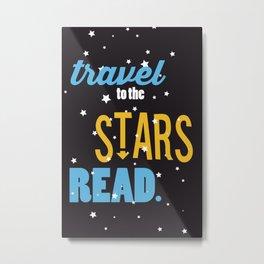 Stars - Just Read Metal Print