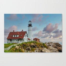 Portland Head Lighthouse at Dusk Canvas Print