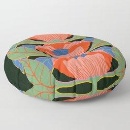 Modern Poppies Floor Pillow