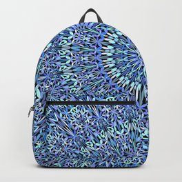 Blue Garden of Life Mandala Backpack