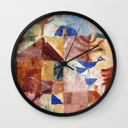 Paul Klee - Landscape with Bluebirds Wall Clock