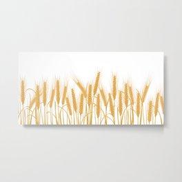 Ears of wheat Metal Print
