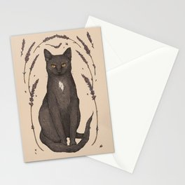 The Cat and Lavender Stationery Cards