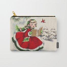 Vintage Christmas Girl Tasche