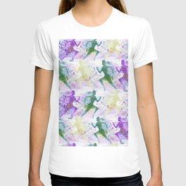 Watercolor women runner pattern T-shirt